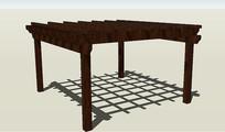 现代木质廊架