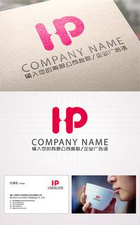 HP字母logo标志设计