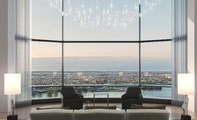 玻璃建筑轻奢室内效果图