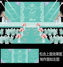 蒂芙尼蕾丝婚礼甜品台