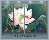 荷花新中式艺术装饰画