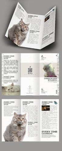 可爱小猫三折页