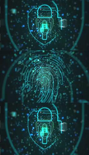 科技指纹加密AE模板素材