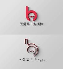 立体大气logo演绎AE模板