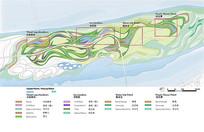 植物公园分区植物分析图