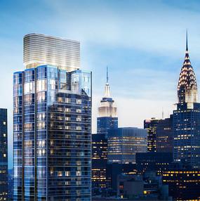 城市建筑透视图
