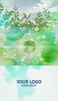 淡彩水墨自然分子AE模板
