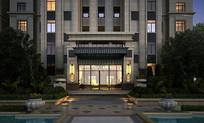 高级公寓楼入口景观 JPG