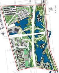 公园景观规划彩平图