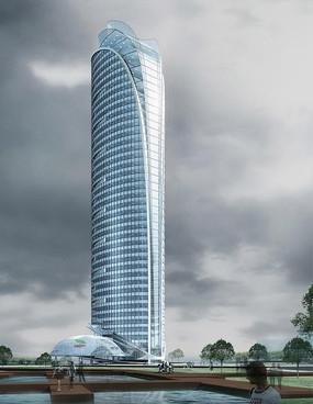 酒店高层建筑效果图