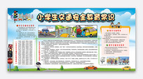 卡通小学生交通安全教育展板