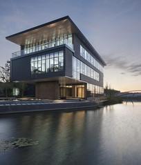 现代简约办公建筑透视图