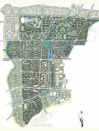 新城规划彩平图