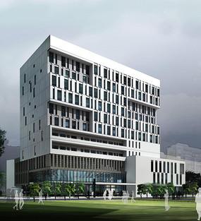 医院科技楼建筑效果图