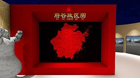 党建政区地图造型墙