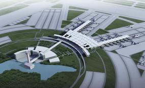 国际机场航站鸟瞰图 JPG