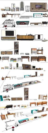 家具柜子桌子模型
