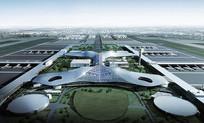 机场航站楼整体鸟瞰图 JPG