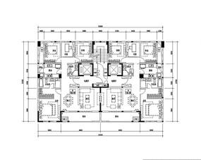 130平米住宅户型图 JPG