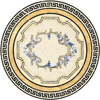 大理石瓷砖水刀拼花CAD中式
