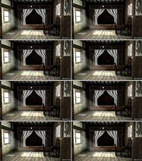 古代卧室卧房内景舞台背景视频
