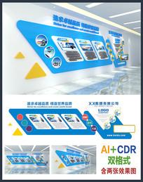 精美公司企业文化墙设计模板