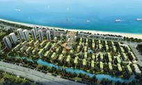 绿色屋顶住宅区整体鸟瞰图 JPG