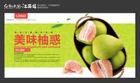 美味柚惑柚子促销海报设计