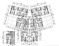 三款家庭室内住宅平面图