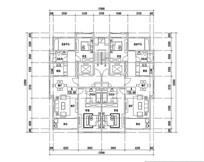 三室两厅两卫住宅户型图