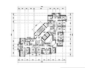 三室两厅小户型平面