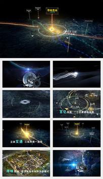 卫星定位交通区位优势AE模版