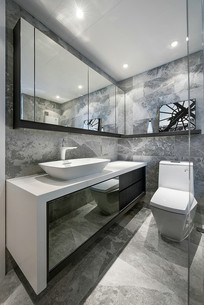 现代棱角分明厕所