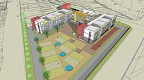 校园教学楼设计模型
