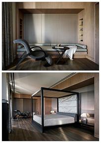 优雅卧室意向