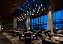 中式酒店室内餐厅意向 JPG