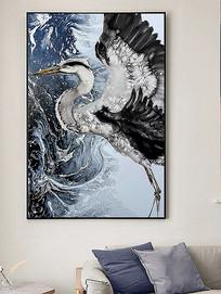 北欧风格飞鹤客厅装饰画
