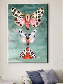 北欧简约蝴蝶装饰画