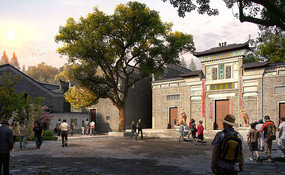 古典公园入口建筑意向图