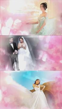 韩式爱心光斑婚礼相册AE模板