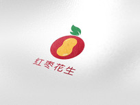 红枣花生LOGO