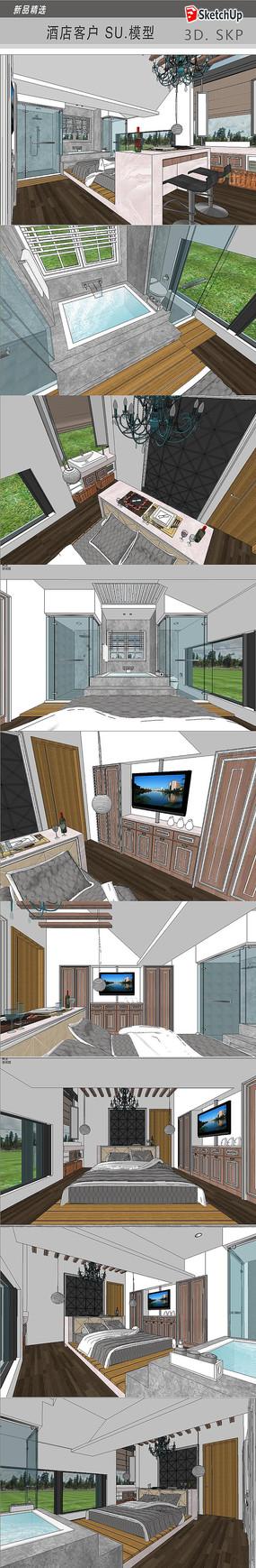 酒店客房设计模型