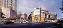 商业街入口透视图 JPG