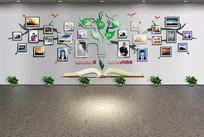 树形企业社区照片文化墙设计