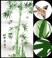 竹子玄关背景装饰画