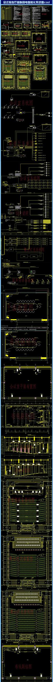 会议报告厅音响弱电系统图