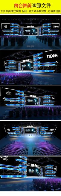 科技舞台舞美模型 max