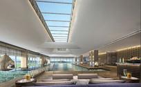 某度假酒店室内泳池