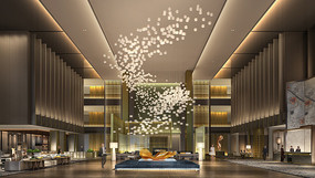某希尔顿酒店大堂效果图