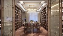 新中式别墅室内设计意向图